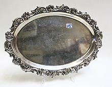 WHITING LOUIS XV STERLING SILVER OVAL TRAY, #6439,