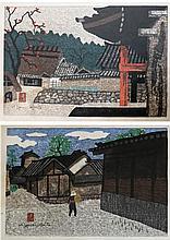 KIYOSHI SAITO, TWO WOODCUTS (Japan, 1907-1992) Vil