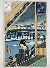 UTAGAWA YOSHITORA WOODCUT (Japan, 19th century)  T