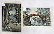 TSUCHIYA KOITSU, TWO WOODCUTS (Japan, 1870-1949)