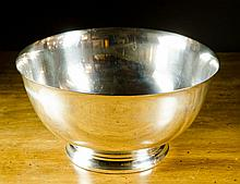 WATSON COMPANY STERLING SILVER FOOTED PUNCH BOWL,