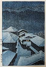 KAWASE HASUI WOODCUT (Japan, 1883-1957) Snow cover
