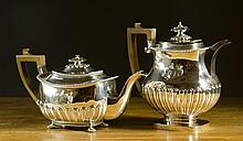 KING GEORGE III STERLING SILVER COFFEE POT AND TEA