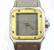 LADY'S CARTIER SANTOS WRIST WATCH, ref. # AC 14.30