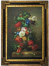 FLORAL STILL-LIFE OIL ON CANVAS