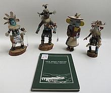 FOUR HUPA (NORTHWEST CALIFORNIA) KACHINA DOLLS WITH BOOK titled