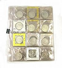 U.S. SILVER COMMEMORATIVE HALF DOLLAR COLLECTION, 35 coins, including: 1892 Columbia Exposition (4), 1893 Columbia Exposition (8), 1925 Lexington-Concord (2), 1926 Sesquicentennial (1),1953 Washington/Carver (4); 1920 Pilgrim Tercentenary (2); 1925