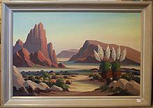 OLIVER GLEN BARRETT OIL ON BOARD (Glendale, California 1903-1970)