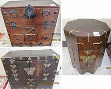 THREE ARTICLES OF SMALL KOREAN CASE FURNITURE:  17.75