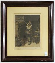 PAUL-ADOLPHE RAJON ETCHING (French, 1842-1888)