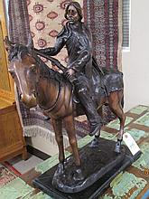 WESTERN BRONZE SCULPTURE,