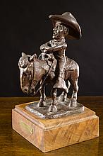 EDWARD B. QUIGLEY BRONZE SCULPTURE (Oregon, 1895-1986)