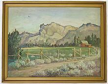 CLYDE LEON KELLER OIL ON CANVAS BOARD (Oregon 1872-1962)