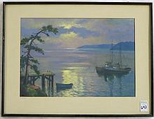 ROSS R. GILL GOUACHE ON PAPER (Washington/California, 1887-1969)