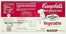 ANDY WARHOL AUTOGRAPHED CAMPBELL'S SOUP LABEL (New York/Pennsylvania, 1928-1987). Image measures 6.5