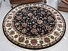 ROUND ORIENTAL ACCENT RUG, Indo-Persian, floral