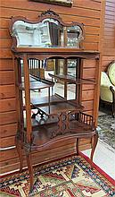 LATE VICTORIAN CHERRY ETAGERE, American, c. 1900,