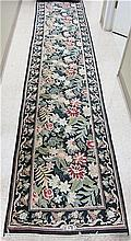HAND KNOTTED ORIENTAL RUNNER, Pakistani-Persian,