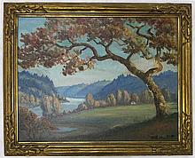 CLYDE LEON KELLER OIL ON CANVAS BOARD (Oregon 1872