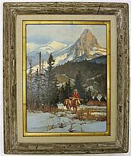 MARK OGLE (1952, Montana) OIL ON BOARD, titled