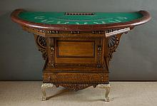 AN OAK BLACKJACK TABLE, American, 19th century  el