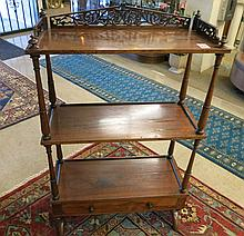 VICTORIAN ROSEWOOD ETAGERE, American, 19th century