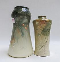 TWO ROSEVILLE ROZANE ROYAL ART POTTERY VASES, each