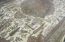 HAND KNOTTED TURKISH CARPET, floral and central