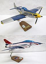 TWO DESK TOP AVIATION MODELS, China Air Force jet