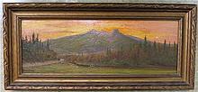 EDWARD HILL (1843-1923, American) OIL ON BOARD,  s