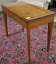 MID-CENTURY MODERN MAPLE CONSOLE TABLE, in the man