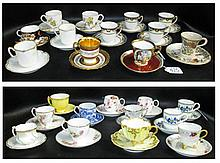 COLLECTION ASSORTED PORCELAIN CUP & SAUCER SETS, t