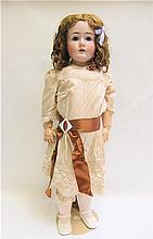 GERMAN KESTNER BISQUE SOCKET HEAD DOLL, #171, having