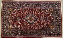 SEMI-ANTIQUE PERSIAN KASHAN AREA RUG, Isfahan