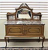 VICTORIAN MAHOGANY MARBLE-TOP WASHSTAND, J. & T.