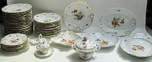 CONTINENTAL CHINA SET, fifty-two pieces with vario