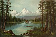 JOHN J. ENGLEHART OIL ON CANVAS (California, 1867-