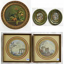 FIVE MINIATURE PAINTINGS, late 19th/early 20th cen