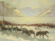 ELLEN HENNE GOODALE OIL ON BOARD (Alaska, 1915-199