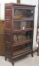 STACKING MAHOGANY BOOKCASE, Century Sectional Book
