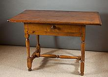 AN EARLY COUNTRY TAVERN TABLE, American, 18th cent