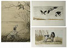 LEON DANCHIN, THREE ETCHINGS (America/France, 1887