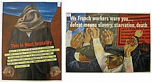 TWO WWII POSTERS BY BEN SHAHN (American, 1898-1969