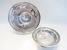 TWO STERLING SILVER HOLLOWWARE PIECES: Towle