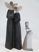 TWO LLADRO PORCELAIN FIGURINES,