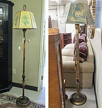 TWO VINTAGE FLOOR LAMPS, American, c. 1920s, both