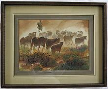 PHIL TYLER WATERCOLOR ON PAPER (Oregon, 1914-1983)