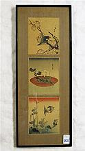 THREE JAPANESE WOODCUTS, two depicting birds and t