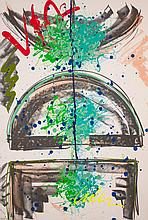 DALE CHIHULY ACRYLIC AND LITHOGRAPH ON PAPER (Amer