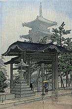 KAWASE HASUI COLOR WOODCUT (Japan, 1883-1957)